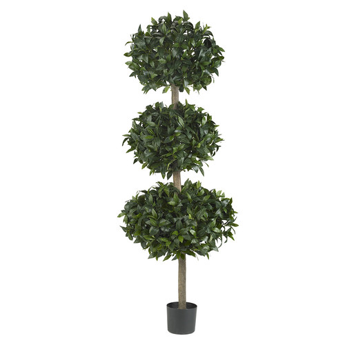 Nearly Natural 69 Sweet Bay Triple Ball Tree Silk