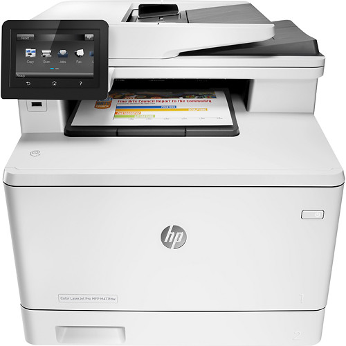 HP - LaserJet Pro MFP m477fdw Wireless Color All-In-One Printer - White