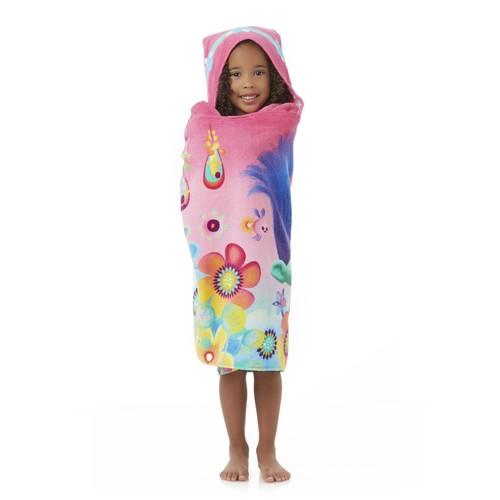 Dreamworks Trolls Girl's Hooded Towel Wrap - Hug Time