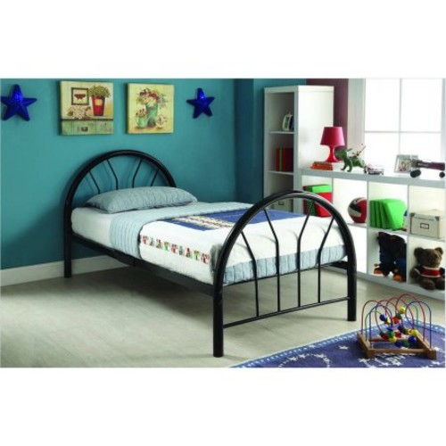 Silhouette Twin Bed, Black