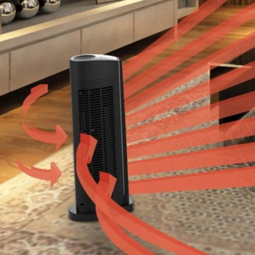 Vornado 1,500 Watt Portable Electric Fan Tower Heater w/ Automatic Climate Control