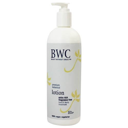 Beauty Without Cruelty - Lotion Hand & Body Treatment Extra Rich Fragrance Free - 16 fl. oz.