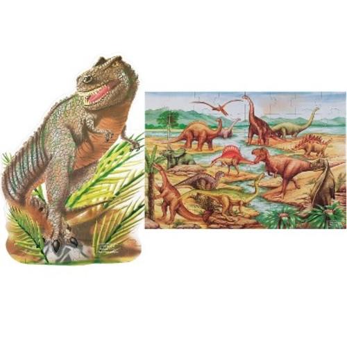 Dinosaur and T-Rex 2pk Floor Puzzle