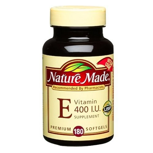 Nature Made Vitamin E, 400 IU, Liquid Softgels, 180 softgels