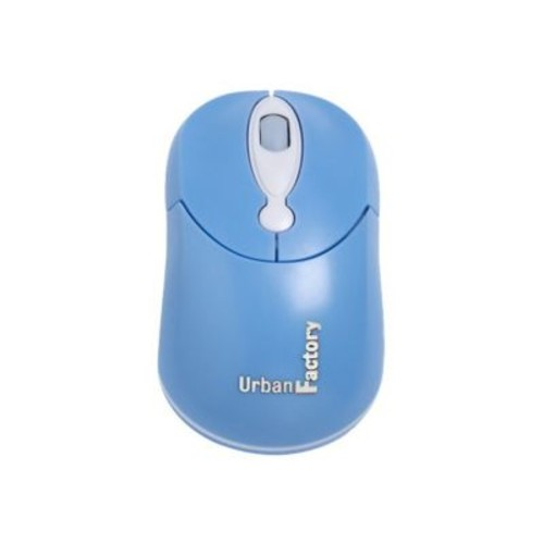 Urban Factory Crazy Mouse USB Wired 800 dpi Optical Mouse, Blue