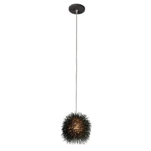 Varaluz Urchin 1-Light Black Mini Uber Pendant