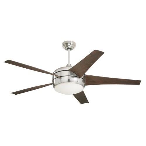 Emerson Ceiling Fans CF955BS Midway Eco Modern Energy Star Ceiling Fan With Light And Remote, 54-Inch Blades, Brushed Steel Finish [Brushed Steel]