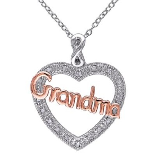 Two-Tone Sterling Silver .05 cttw Diamond 18-Inch Chain