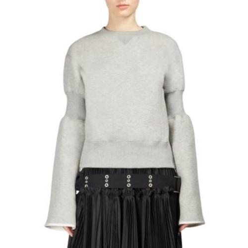 SACAI Banded Sleeve Sweatshirt