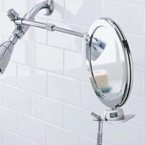 Zadro 3X/1X Magnification Z Fogless Dual Sided Telescoping Shower Mirror and Dual Accessory Holder, 8.5-Inch, Chrome