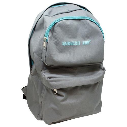 Economy Backpack Gray/Teal Zipper
