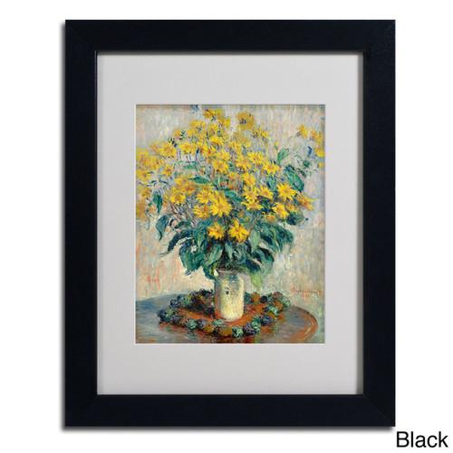 Claude Monet 'Jerusalem Artichoke Flowers' Framed Matted Art