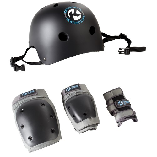 Kryptonics 4-in-1 Pad Set with Helmet - Youth