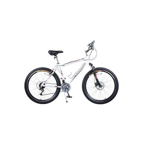TITAN White Knight Aluminum Suspension Men's Mountain Bike with Disc Brake, White, 21-Speed