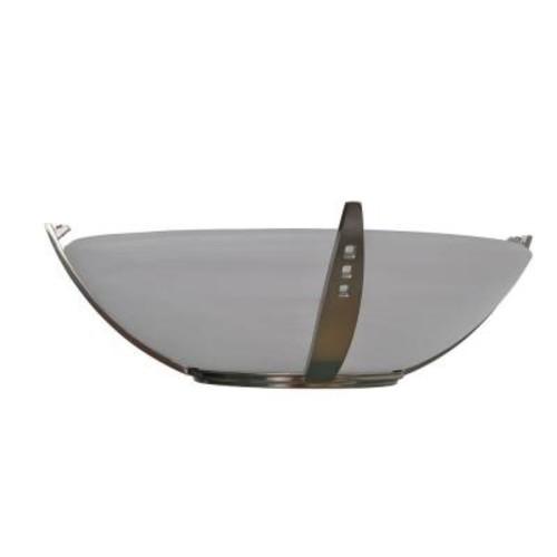 Brookedale II 60 in. Brushed Nickel Ceiling Fan Top Glass