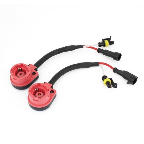 2pcs Auto Car Vehicle D2R D2C D2 HID Wire Cable Wiring Harness Socket Adapter