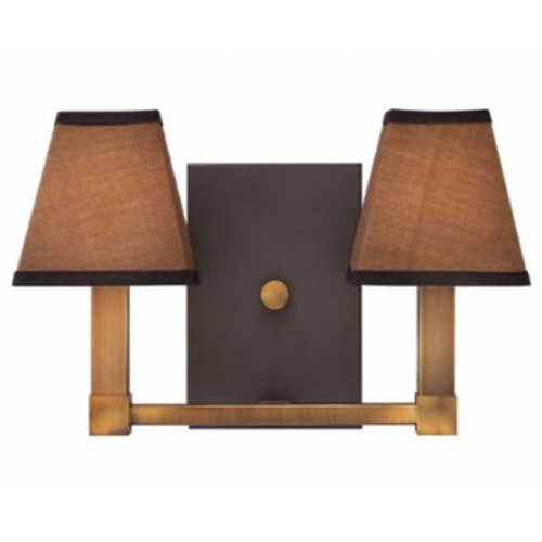Fulton 3332 Two-Light Wall Sconce [Finish : Bronze]