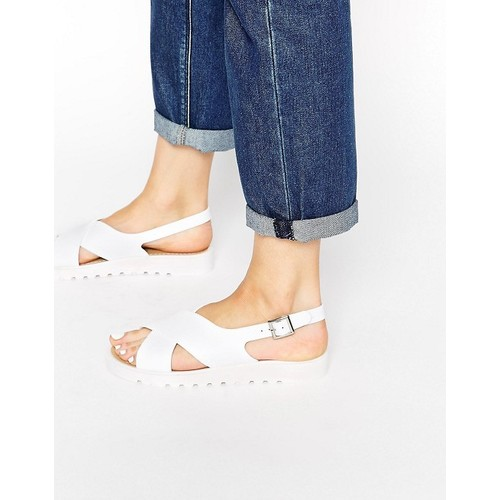 Truffle Collection Cross Strap Jelly Flat Sandals