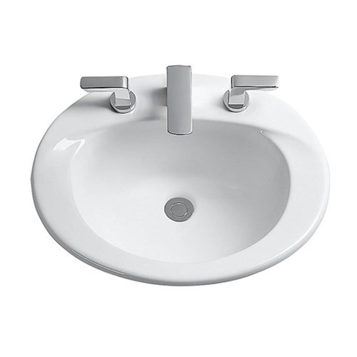 TOTO Ultimate 19 in. Drop-In Sink Basin with Single Faucet Hole in Bone