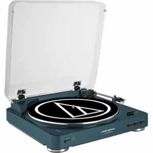 Audio Technica Fully Automatic Wireless Belt-Drive Stereo Turntable with Bluetooth - Navy