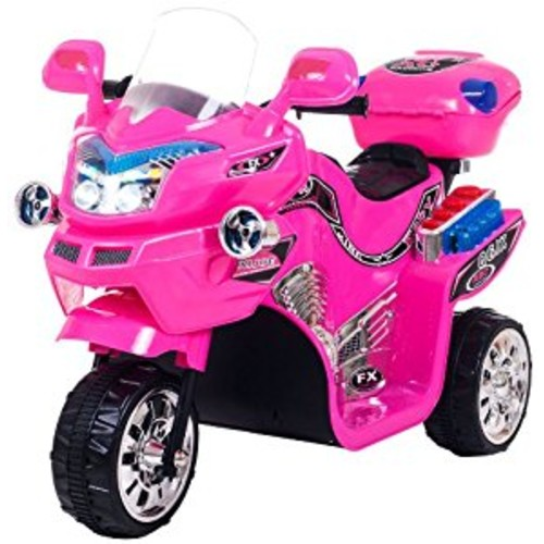 Ride on Toy, 3 Wheel Motorcycle for Kids, Battery Powered Ride On Toy by Lil' Rider  Ride on Toys for Boys and Girls, 2 - 5 Year Old - Pink FX [Pink, Standard Packaging]