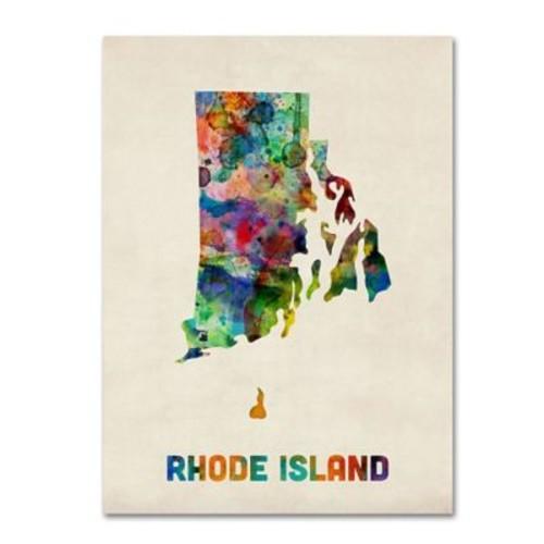 Trademark Fine Art 'Rhode Island Map' 14