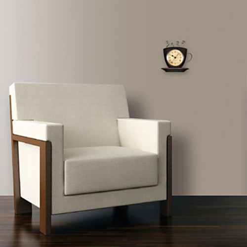 FirsTime Coffee Cup Wall Clock, 9
