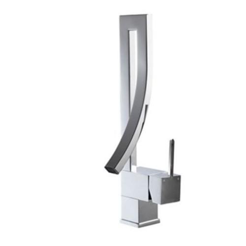 Kube Bath Aqua Elegance Single Lever Wide Spread Bathroom Faucet