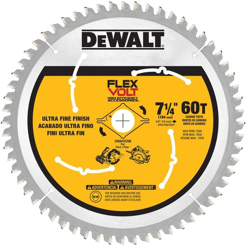 DEWALT FLEXVOLT 7-1/4 in. 60 Teeth Circular Saw Blade