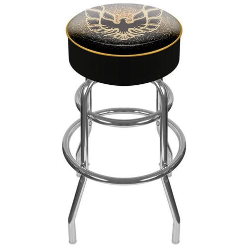 Trademark Global Pontiac Firebird Black Padded Swivel Bar Stool