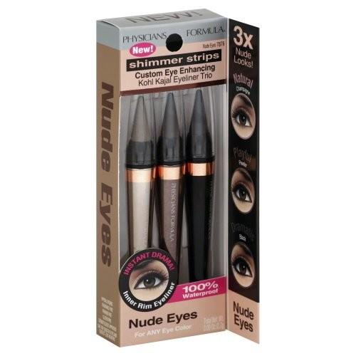 Physicians Formula Shimmer Strips Custom Eye Enhancing Kohl Kajal Eyeliner Trio 7876 Nude Eyes For Any Eye Color