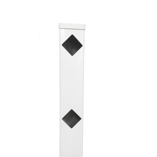 Weatherables Diamond 5 in. x 5 in. x 6 ft. White Vinyl Fence End Post