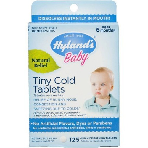 Children's Hyland's Baby Tiny Cold Tablets - 125ct