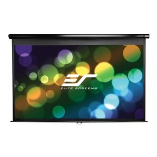 Elite Screens Manual Series M106UWH - Projection screen - 106 in ( 269 cm ) - 4:3 - MaxWhite - black
