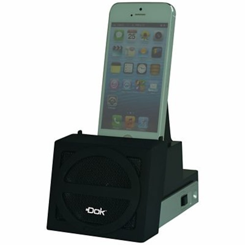 DOK Speaker Cradle With Rechargeable Battery, Black