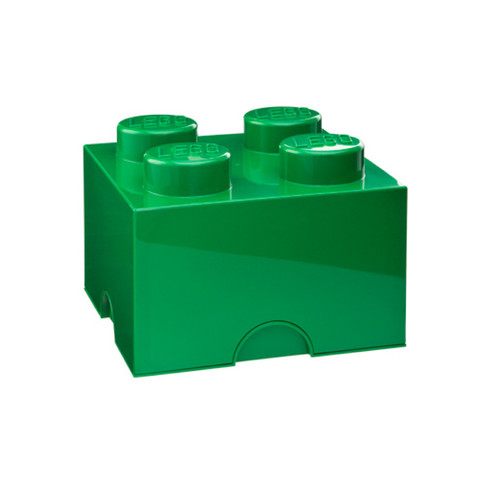 LEGO Storage Brick 4-Stud Dark Green