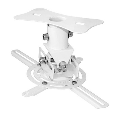 PyleHome PRJCM6 Universal Projector Ceiling Mount Bracket with Rotation and Tilt Adjustments and Quick Release, White
