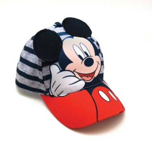 Disney Mickey Mouse Toddler Cap in Grey Stripe