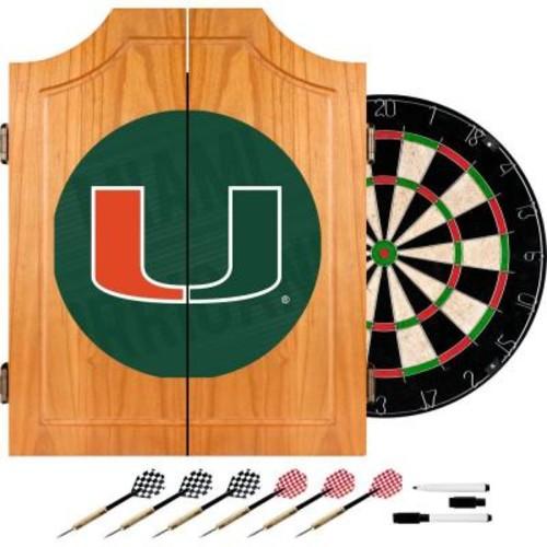 Trademark Global University of Miami Wordmark 20.5 in. Wood Dart Cabinet Set