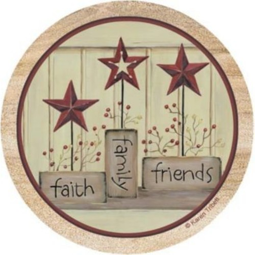 Thirstystone Faith, Family and Friends Coaster (Set of 4)