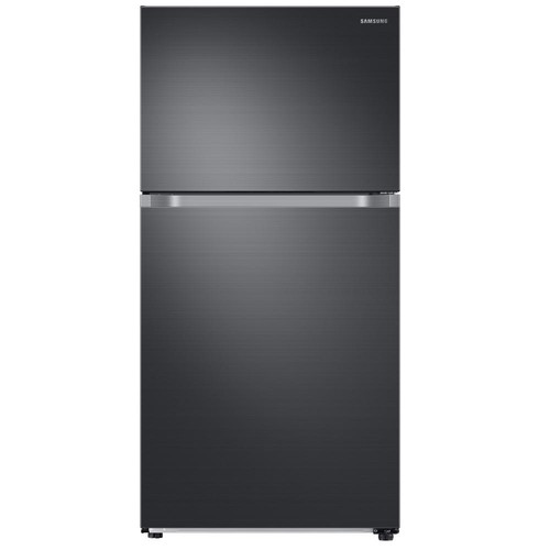 Samsung 21.1 cu. ft. Top Freezer Refrigerator with FlexZone Freezer in Black Stainless, Energy Star, Ice Maker