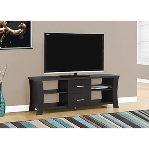 Monarch Specialties Engineered Wood TV Stand, For Flat-Panel TVs Up To 60