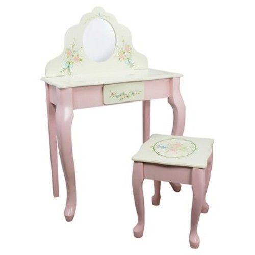 Fantasy Fields Bouquet Classic Vanity Table & Stool Set - Teamson