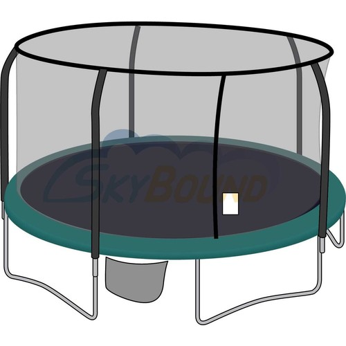 Skybound 15Ft Trampoline Net,Fits Jumpking,Bazoongi,Orbounder with 5 Pole Enclosures Using Fiberglass G3 Top & G4 Bottom Rings),Net Only