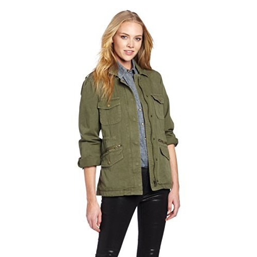 VELVET BY GRAHAM & SPENCER Women's Ruby Army Jacket [Forest, X-Small]