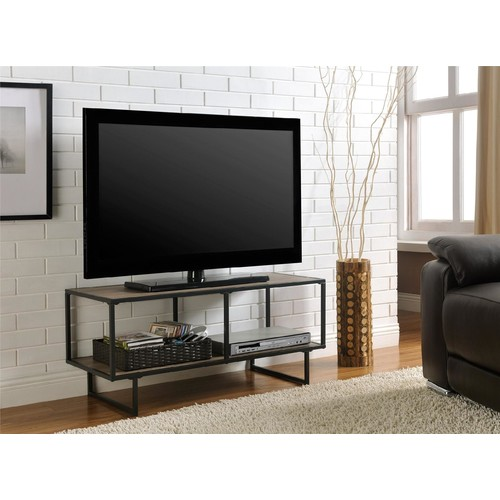 Dorel Home Furnishings Emmett Sonoma Oak and Gunmetal Gray TV Stand/ Coffee Table with Metal Frame