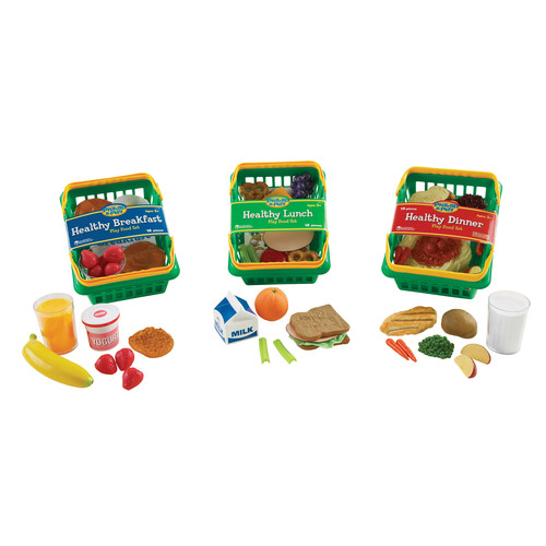 Learning Resources Play Set Healthy Foods Set Of 55 Bundle
