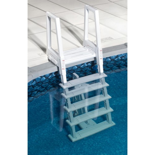 Blue Wave White Heavy Duty In-Pool Ladder for Above Ground Swimming Pools