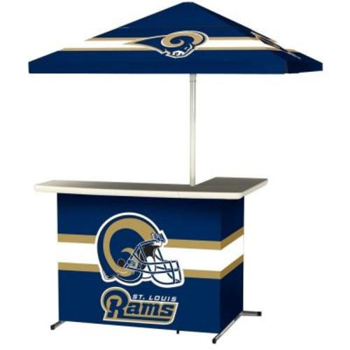 Best of Times St Louis Rams All-Weather L-Shaped Patio Bar with 6 ft. Umbrella