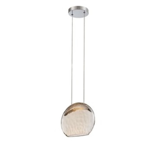 Justice Design Group Wire Glass 1-light Brushed Nickel Pendant